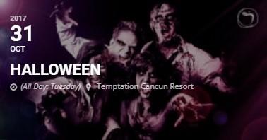 Temptation Resort Cancun Halloween